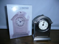Royal Limited Silver Medium Arch Alarm Mantel/tabletop Clock