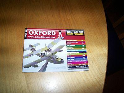 Oxford Diecast june 2016 model catalogue NEW