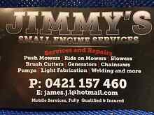 Jimmys small engine service and repairs mobile lawn mower repairs Mangrove Mountain Gosford Area Preview