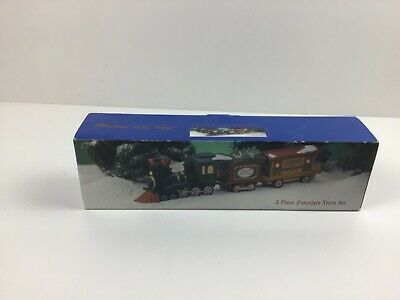 Heartland Valley Village 3 piece Porcelain Train Set - Christmas Decor