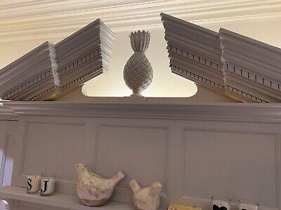 decorative classical stepped and arch pediment solid oak