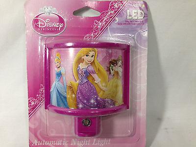 Disney Princess Belle Rapunzel Cinderella Automatic Nightlight New!