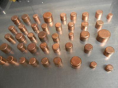 Cap Copper Plumbing Fitting Bag Of 42 Pcs --------------------- Box1039