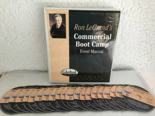 COMMERCIAL BOOTCAMP  REAL ESTATE SYSTEM BY RON LEGRAND - MANUAL & 20 CD