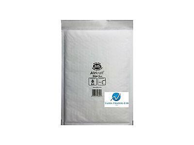 50 JL3 White 250 x 335mm Bubble Padded JIFFY AIRKRAFT Postal Bag Envelope