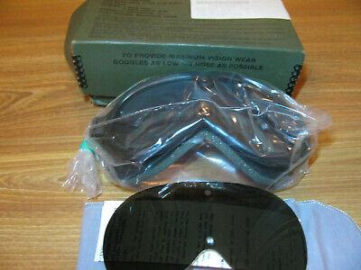 ✅Vintage (never used) US Aviation Military Flying Goggle 2 lense Harley Davidson