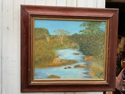 Large Framed Oil Painting - Some Bumps to the Frame COLLECTION ONLY CH4