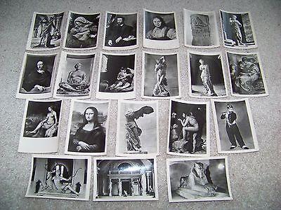 LOT of 20 MUSEE DU LOUVRE Editions De Luxe ESTEL Black & White Photographs