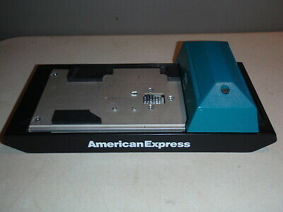 Addressograph Bartizan Manual Credit Card Imprint Machine American Express