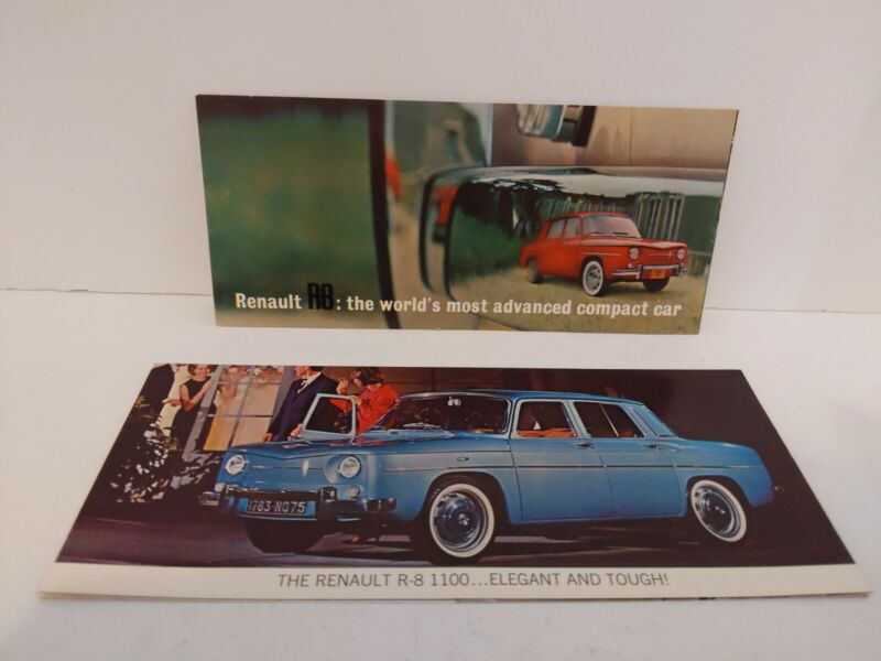 1960s Renault R8 R-8 1100 Sales Brochures Flyers Made In France Import