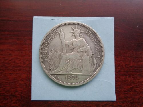 1894 A French Indo-China Piastre silver coin