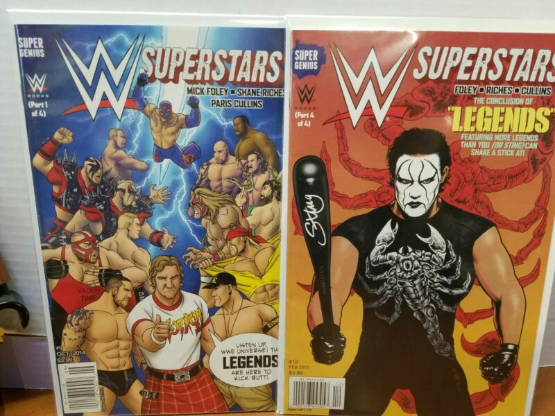 2 WWE SUPERSTARS #9.12. legends HULK HOGAN VS STONE COLD . stimg NM