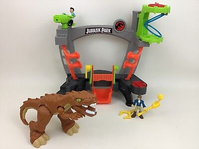 Dinosaur Research Lab Playset Jurassic World Park Fisher Price Imaginext 2017