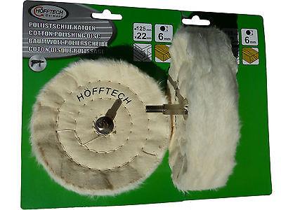 2x Polierscheibe Baumwolle 125 mm Schwabbelscheibe Politur Scheibe