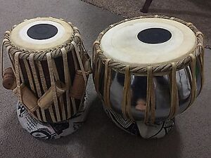 Hand made professional Tabla drum set brass bayan shesham wood Waterloo Inner Sydney Preview