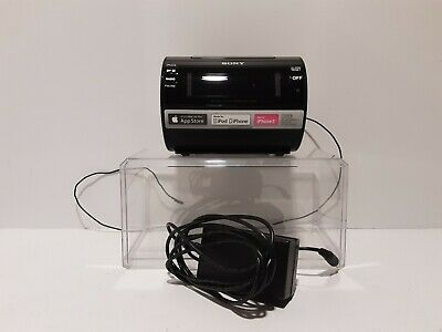 Sony AM/FM Clock Radio Iphone Ipod Dock Alarm ICF-C11iP Black Excellent