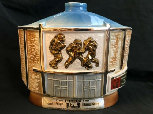Jim Beam 1972 Pro Football Hall Of Fame Bottle Decanter