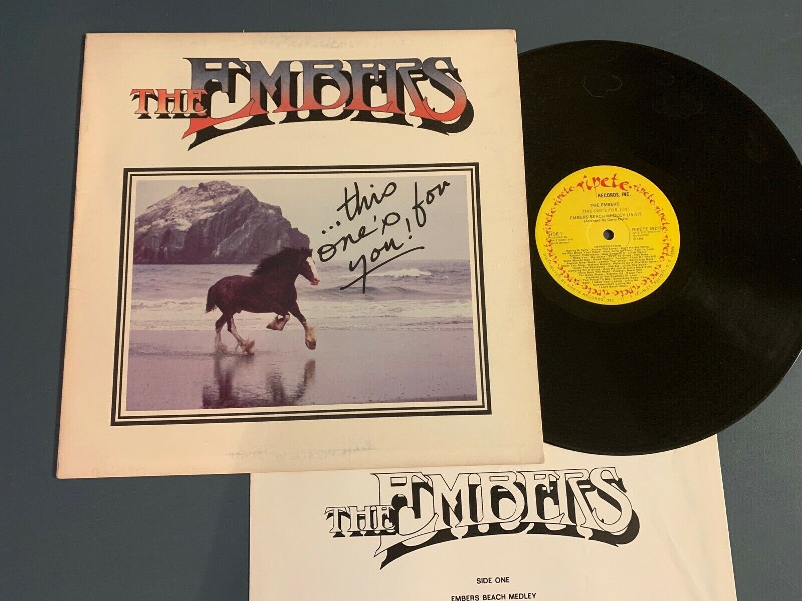 THE EMBERS - THIS ONE S FOR YOU 1982 RIPETE RECORDS R B SOUL VINYL LP  - $17.98