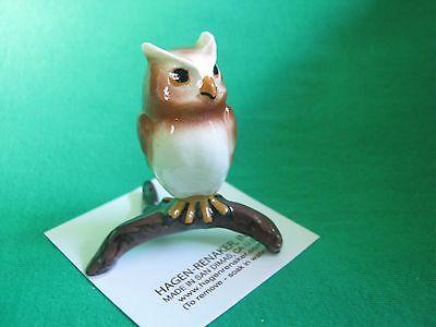 Hagen Renaker Horned Owl Figurine Miniature 03369 FREE SHIPPING NEW