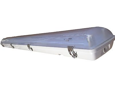 Led T5 Vapor Tight Light Fixture 4 Two Lamp - 56 Watts Brighter Than T5ho - New