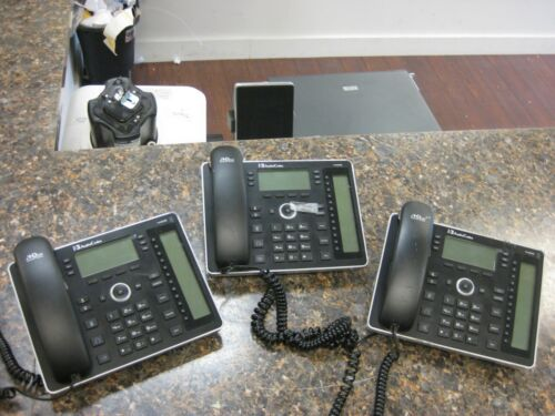 Lot (3) Audiocodes 440hd Ip Phone With Handset & Handset Cord