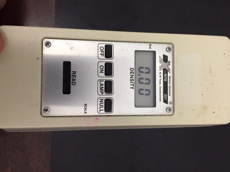 X-Rite 331 Transmission Densitometer And334 Dual Color Sensitometer Set