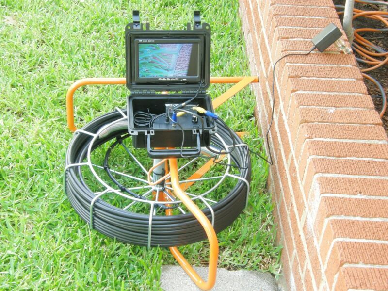100 foot pipe inspection camera, sewer main inspection, 100