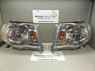 Toyota Tacoma 05-11 Left & Right Updated Front Headlight Set Genuine OE OEM