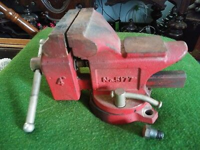 Vintage Machinist Anvil 4 Swive Bench Vise Red Japan No. 5177 Gc 009