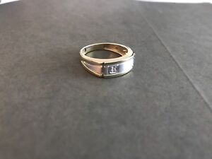 Diamond and 10k gold ring