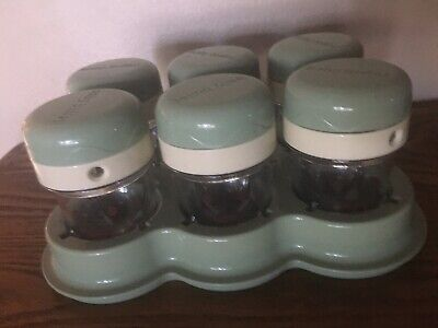 Baby Bullet Food Processor Storage Cups/Tray 6 Cups With Lids -