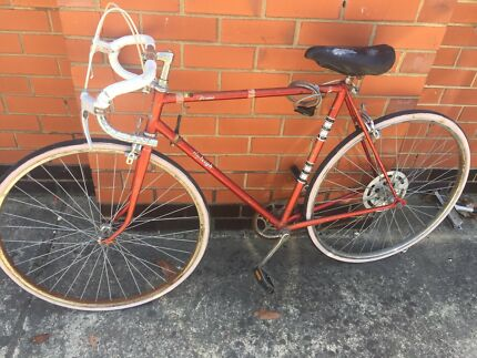 Red Vintage Raleigh Road Bike