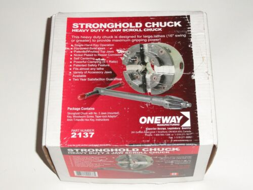NEW! Oneway #2137 Stronghold Chuck Heavy Duty 4 Jaw Scroll Chuck