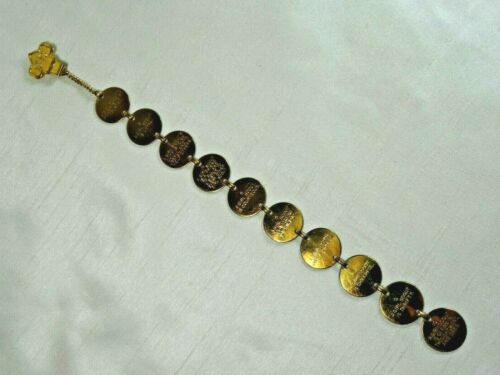 Vintage Girl Scouts Linked Metal Disc 10 Laws Bookmark 1958  11-635