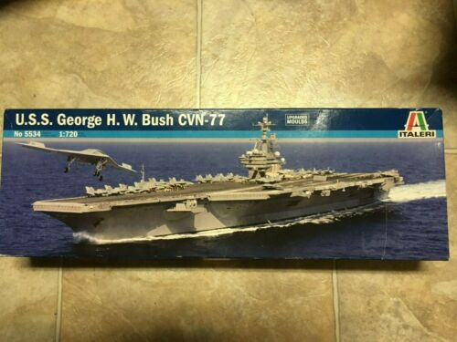 ITALERI 5534 USS GEORGE H W BUSH CVN-77 MODEL KIT-NIB-1:720 SCALE