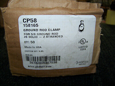 Pentair Ground Rod Clamp Cp58 8 Solid 2 Stranded 50 Ea. 158165