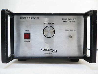Noise Com Nc 6112 Noise Generator 1mhz To 2ghz 1.0 Mw - Nc6112