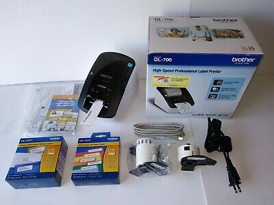 Brother Ql-700 High-speed Professional Thermal Label Printer Excellent Extras
