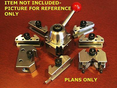 PLANS--QCTP-275-S  QUICK CHANGE TURRET TOOL POST fits ATLAS, SOUTH BEND, LATHE