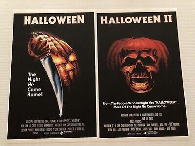 Halloween 1 & 2 Set Of 11x17 Mini Posters Michael Myers John Carpenter - Michael Myers Movie Halloween 1