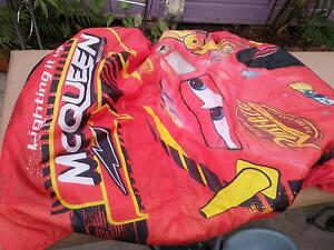 Lightning McQueen sleeping bag toddler mattress cover Pakenham Cardinia Area Preview