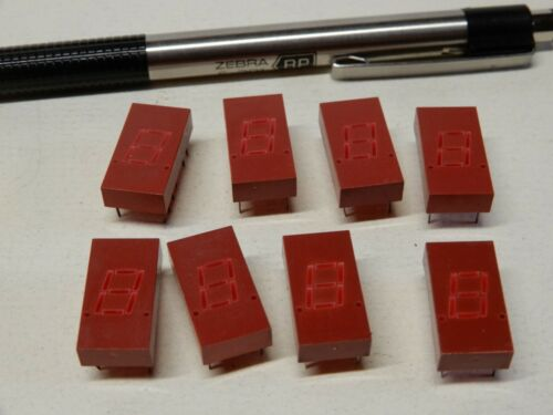 HP 5082-7611 229 C Seven Segment LED Display Chips Qty 8 NOS .4 x .75 Red