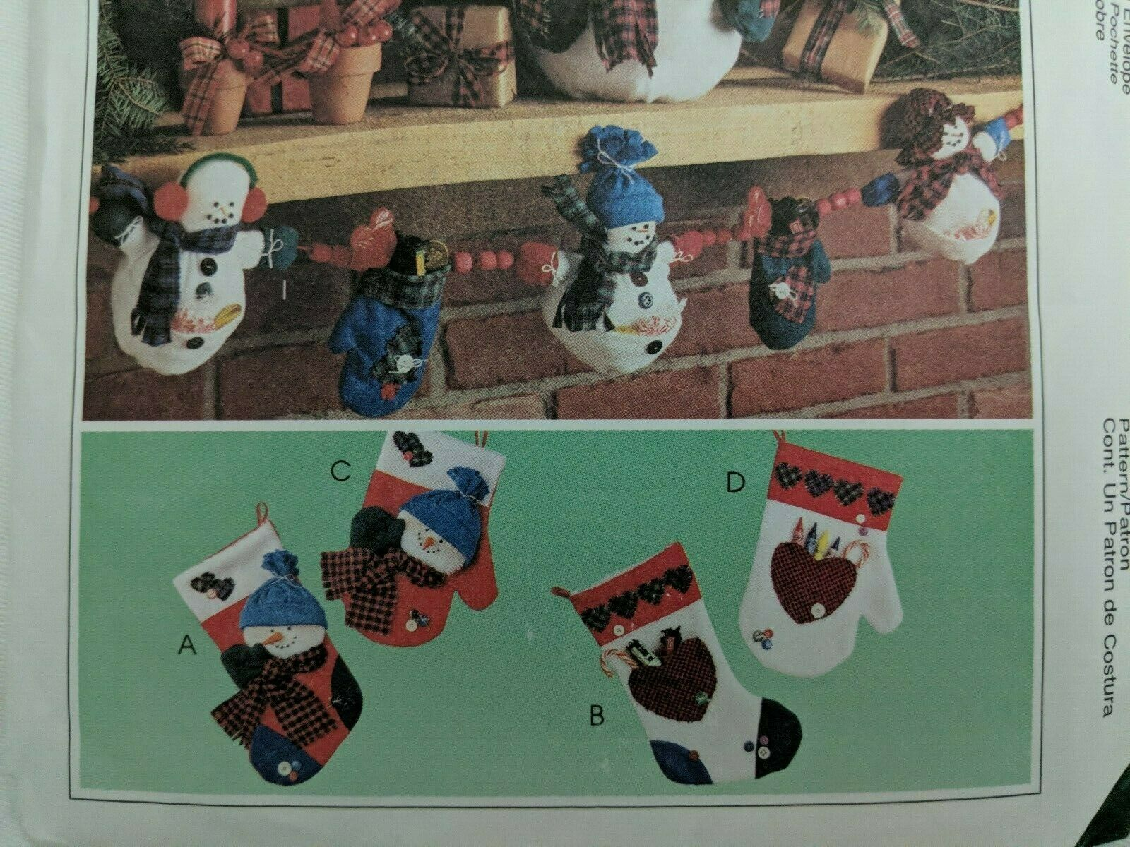Frosty Friends McCall s 9444 Pattern Snowmen Mittens Xmas Garland Ornaments UC - $4.99