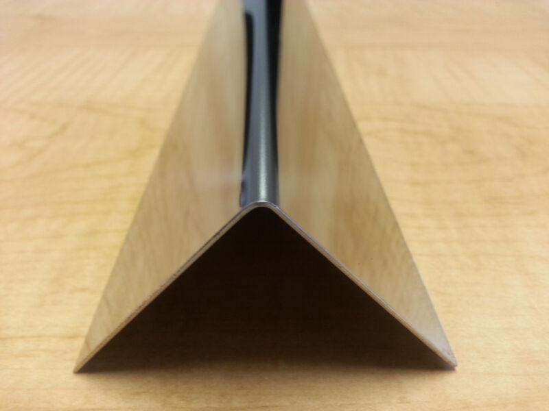 "20ga Mirror Stainless Steel Fabricated Angle 3/4"" x 3/4"" x 48"""