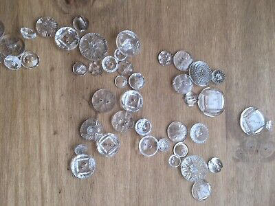 Selection Of Vintage Clear Glass Buttons