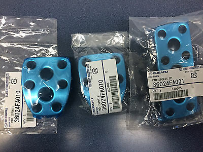 Subaru OEM Clutch & Brake & Gas Aluminum Pedal Kit STI WRX Legacy GT Forester oe