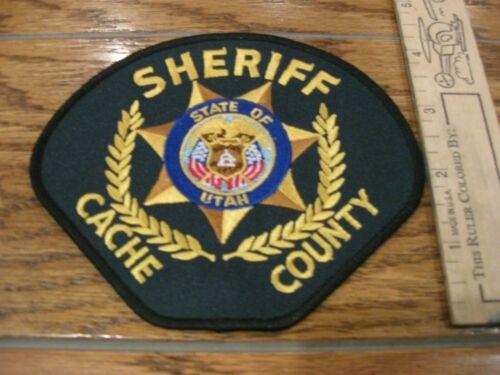 Cache Sheriff Utah Police patch UT green background