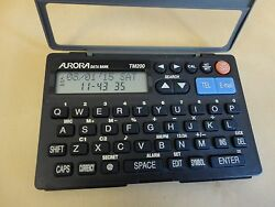 Aurora Data Bank Mini TM200 Email Directory With Clock ,Alarm,Calculator