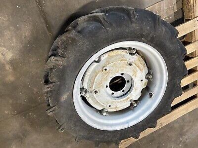 2  9.5 - 24 Ag Tires Rims With Wheel Weights 6 Lug 5 Center Hole 6-12 C-c