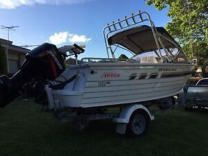 Aluminum boat stacer 475 bay master sports Kearns Campbelltown Area Preview